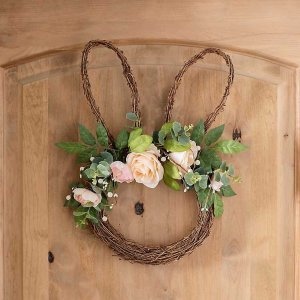 Easter Bunny Rose Wreath
