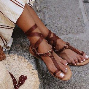 女士 绑带凉鞋 棕色