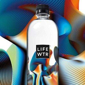 $7.69 1瓶不到$0.65史低价:LIFEWTR PH平衡电解质水 500ml 运动瓶 12瓶