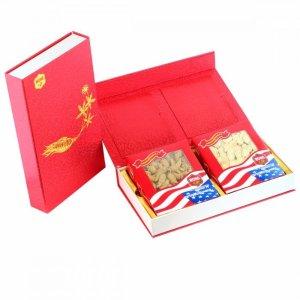 买目录下任意两盒4盎司花旗参免费送(需加入购物车)WOHO 精美大号礼盒 适合2盒4oz花旗参(1个)
