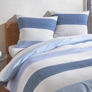 蓝色条纹 床单