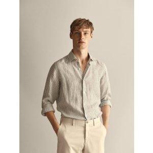 男士棉麻衬衫