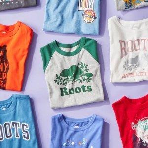 罕见买3免1 单件$20起Roots 夏日T恤 少女紫、活力条纹 加拿大国民品牌 舒适百搭