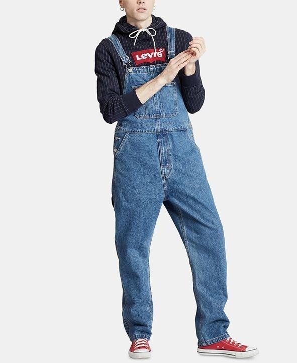 休闲背带裤
