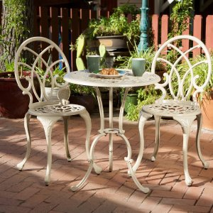 HouzzGDF Studio 3-Piece Andover Outdoor Cast Aluminum Bistro Set - Traditional - Outdoor Pub And Bistro Sets - by GDFStudio