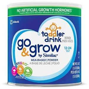 As Low As $96.85Go & Grow By Similac Non-GMO Milk Based Toddler Drink, Large Size Powder, 24 ounces (Pack of 6)