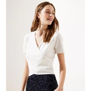 2 for $30Cropped Wrap Sweater   LOFT