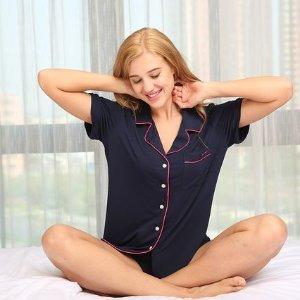 $34.84起 多款可选2021来啦:Ekouaer 女士短款睡衣套装 顺滑质感  享受幸福宅家