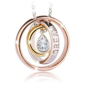 $27.87(原价$158.99)闪购:J.Rosée 925纯银锆钻项链
