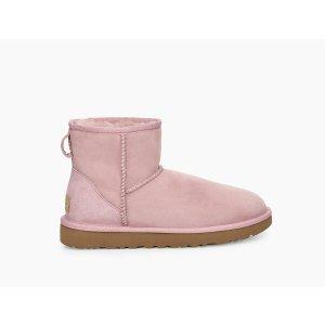 UGG Australia粉色短款雪地靴