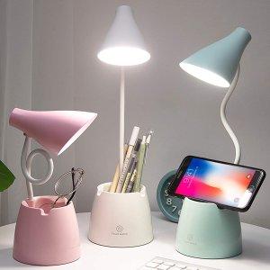 7.3折起 €16.91护眼灯带回家Amazon LED台灯闪促 解决频闪问题 办公学习不伤眼