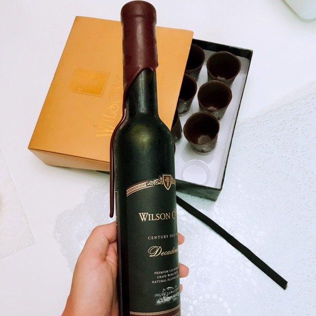 🍷用巧克力杯子 喝巧克力红酒🍫<b...