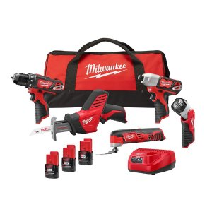 $199Milwaukee M12 12-Volt Lithium-Ion Cordless Combo Kit (5-Tool)