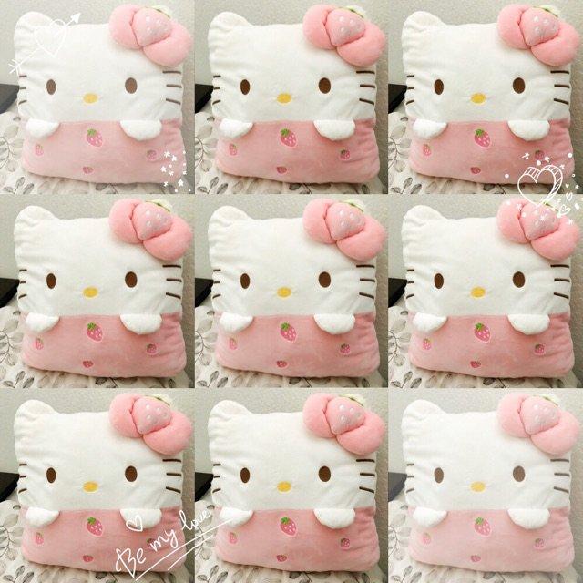 Hello Kitty 暖手抱枕❤...