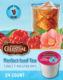 Green Mountain Coffee Sweet Raspberry Iced Tea(24 K-Cup Box)