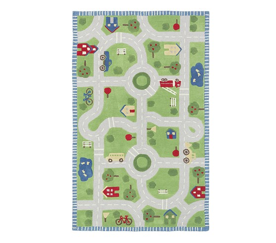 Play in the Park Road Rug | Patterned Rugs | Pottery Barn Kids
